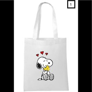 Handbags - NEW!! Snoopy And Friends White Tote Bag